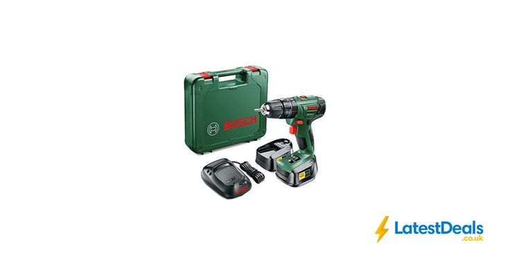 Bosch PSB 1800 LI-2 Cordless Combi Drill with Two 18 v Lithium-Ion Batteries, £49.99 at Amazon UK