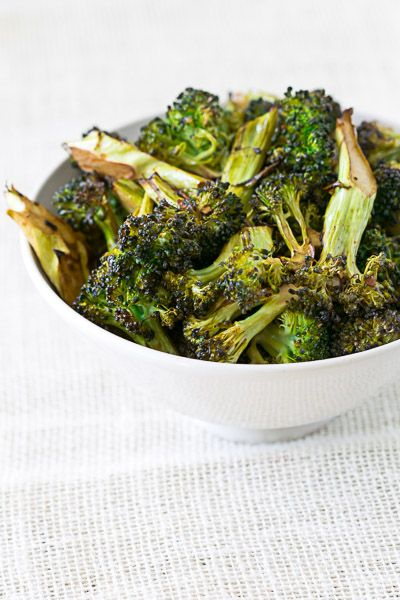 Garlic Roasted Broccoli -- made this tonight, everyone agreed it was delicious!
