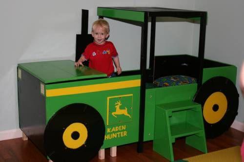 36 besten traktorbetten tractor bed bilder auf pinterest traktoren kinderbetten und betten. Black Bedroom Furniture Sets. Home Design Ideas