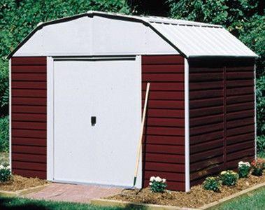 Arrow Red Barn 10x8 Storage Shed Storageshedsoutlet Metal Sheds Pinterest Barns And
