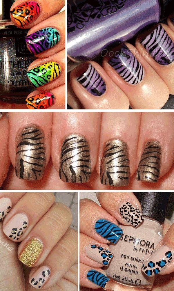 nail-art-animalier unghie tigrate leopardate
