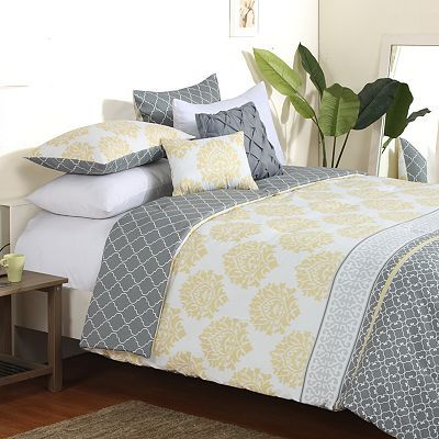 35 best images about yellow and grey bedding on pinterest - Gray and yellow bedding sets ...