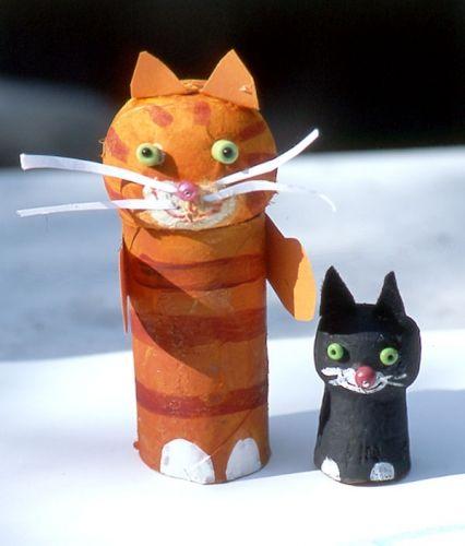 Kostenlose Spiel basteln: Katzenwettrennen zum Basteln