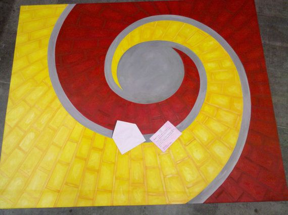 Yellow Brick Road Floorcloth by artbelongseverywhere on Etsy, $400.00