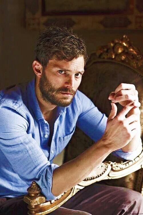Jamie Dornan with or without facial hair is yummy.