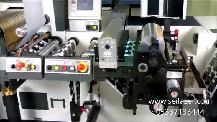 Laser Label Cutting Machine * Lazer Etiket Kesme Makinası  * 05337133444