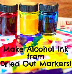 Alcohol Ink Made Using Upcycled Dried-Out Markers