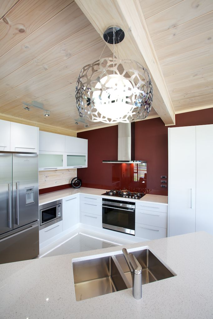 Kitchen of Lockwood Kaipara show home in West Auckland
