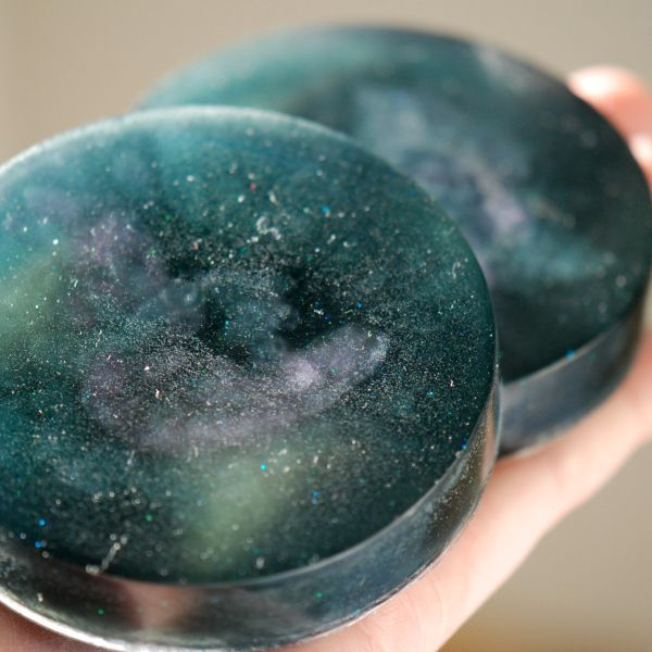 DIY Easy Galaxy Glycerine Soap Tutorial Homemade Handmade Soap Technique