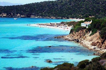 La bellissima spiaggia di Tuerredda in Sardegna