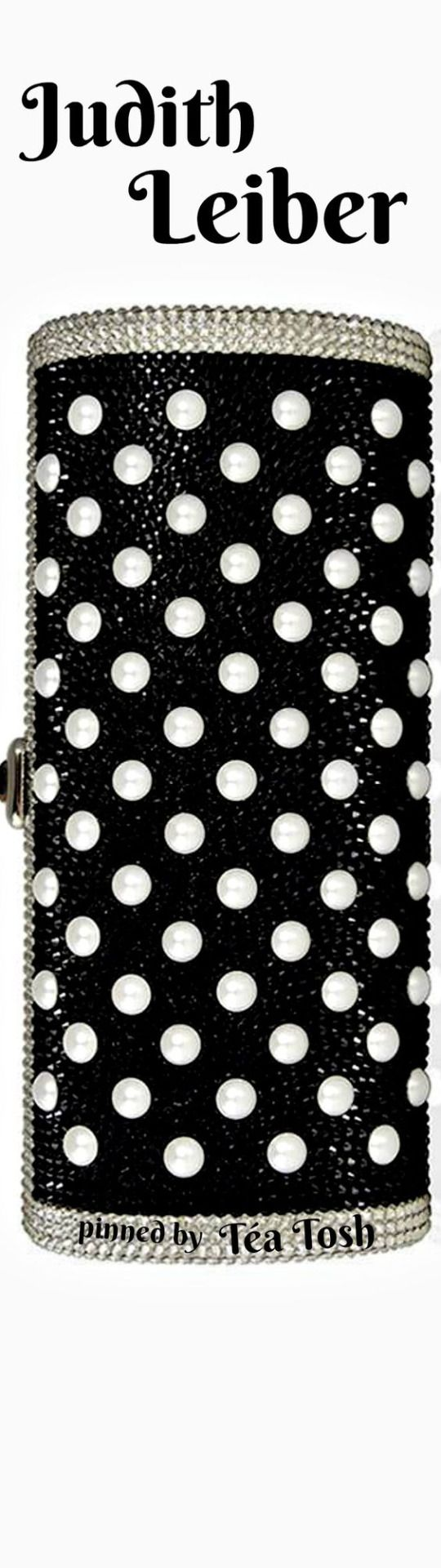 ❇Téa Tosh❇ Judith Leiber, Couture, Cylinder Beaded East-West Clutch Bag