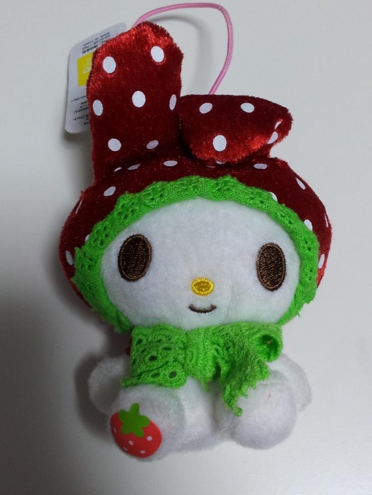 JPLand Stuff - Sanrio My Melody Frilly Strawberry Plush Strap (Red), $9.99 (http://www.jplandstuff.com/sanrio-my-melody-frilly-strawberry-plush-strap-red/)