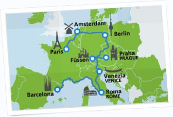 Planning a trip through Europe? The Eurail pass is your key to unlocking all of Europe's treasures – at your own pace. Comfy trains, world-famous sites and countless memories await you. - aerial.com