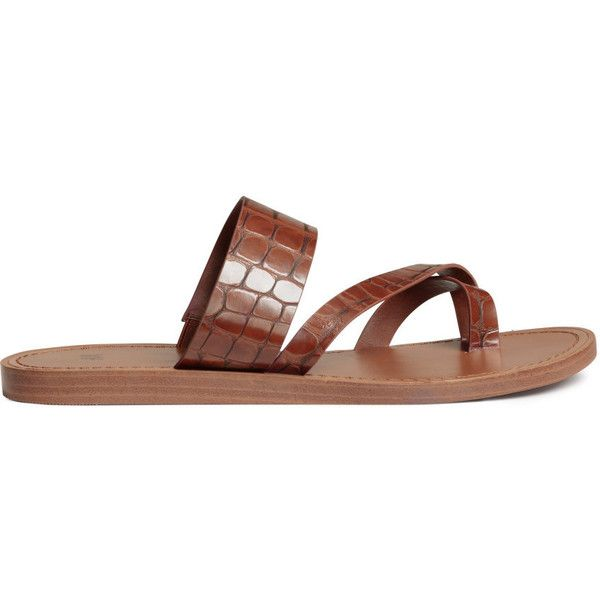 H&M Sandals $14.99 (€13) ❤ liked on Polyvore featuring shoes, sandals, vegan footwear, crocs sandals, h&m shoes, vegan leather shoes and rubber sole shoes