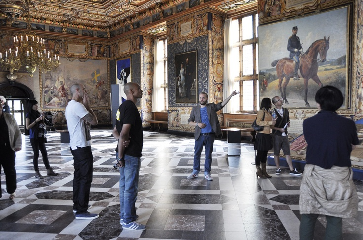 A guided tour at the museum