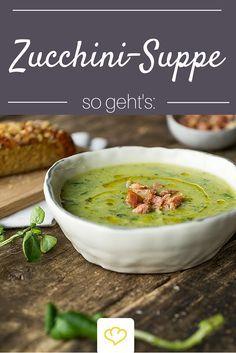 Brunnenkresse und Serrano-Schinken verleihen dieser Zucchini-Suppe das gewisse Extra!
