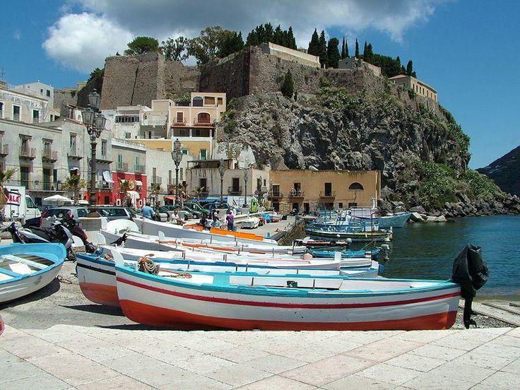 Port of Lipari, Sicily. We will be going here someday.