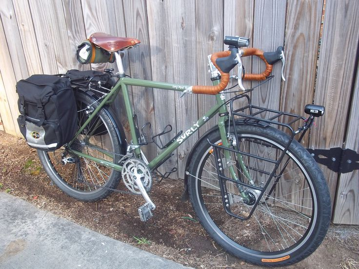 The Surly Long Haul Trucker - for your next cross country ride - um a word to the wise - pack a toothbrush - I didn't brush my teeth for a whole month or more while I did my ride this summer - my dentist was pissed. Ross