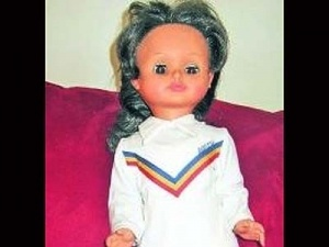Nadia doll was made to honor Nadia Comaneci, a great Romanian gymnast. As I didn't have any Barbie, Nadia was just fine.