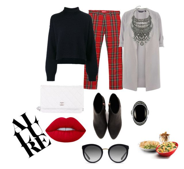 """""""Untitled #173"""" by ezerys on Polyvore featuring Rejina Pyo, Alexander Wang, Chanel, Lime Crime, Le Vieux, Dolce&Gabbana, Dorothy Perkins and DYLANLEX"""
