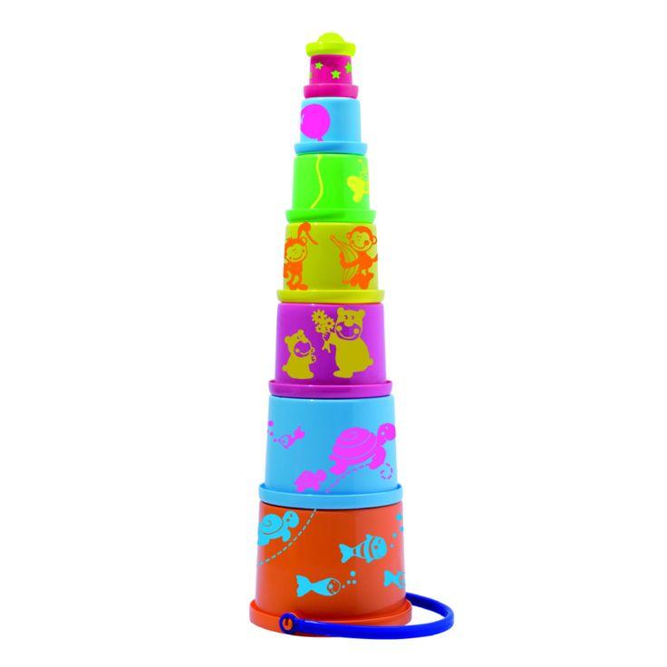 SPIELSTABIL Pyramide pastell 8 Teile