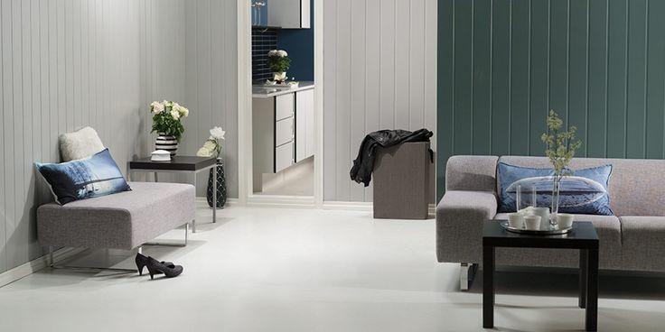 ANNONSEINNLEGG FRA BYGGMA: Skap en kontrastvegg eller gi hele rommet en forvandling.