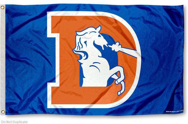 Denver Broncos Throwback Vintage NFL Flag Tailgating Banner #DenverBroncos