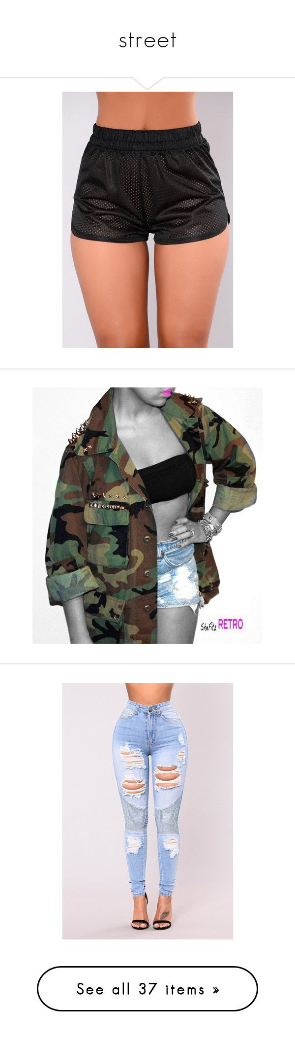 """""""street"""" by siyaaaaa ❤ liked on Polyvore featuring outerwear, jackets, studded jacket, vintage jackets, military camouflage jacket, vintage camo jacket, army camo jacket, jeans, bottoms and high-waisted jeans"""