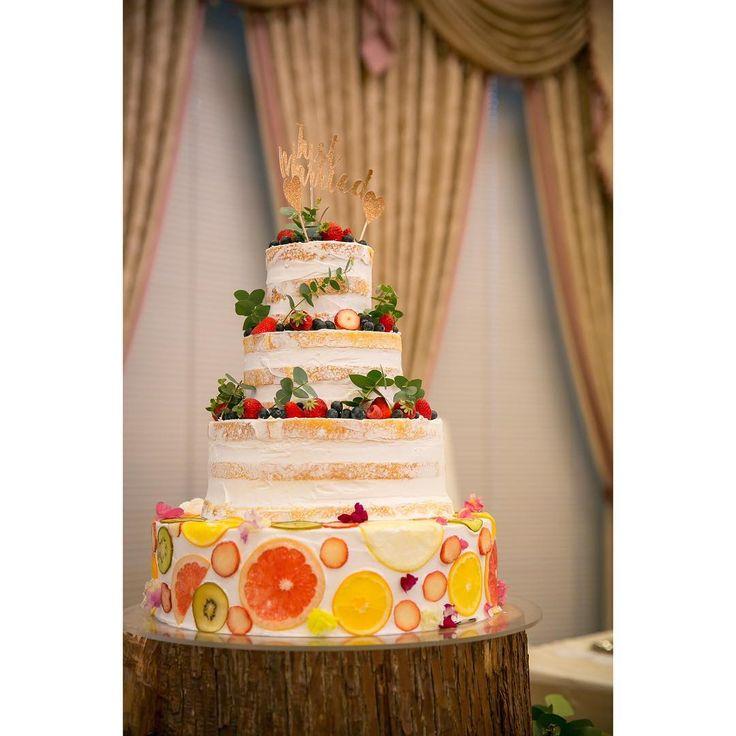 最旬ウェディングケーキのトレンドはフルーツ断面ケーキ! | marry[マリー]