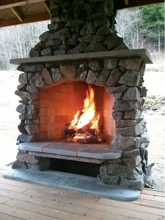 25 best Outdoor fireplace images on Pinterest | Outdoor ...
