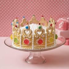Princess crown cake using sugar cookies!