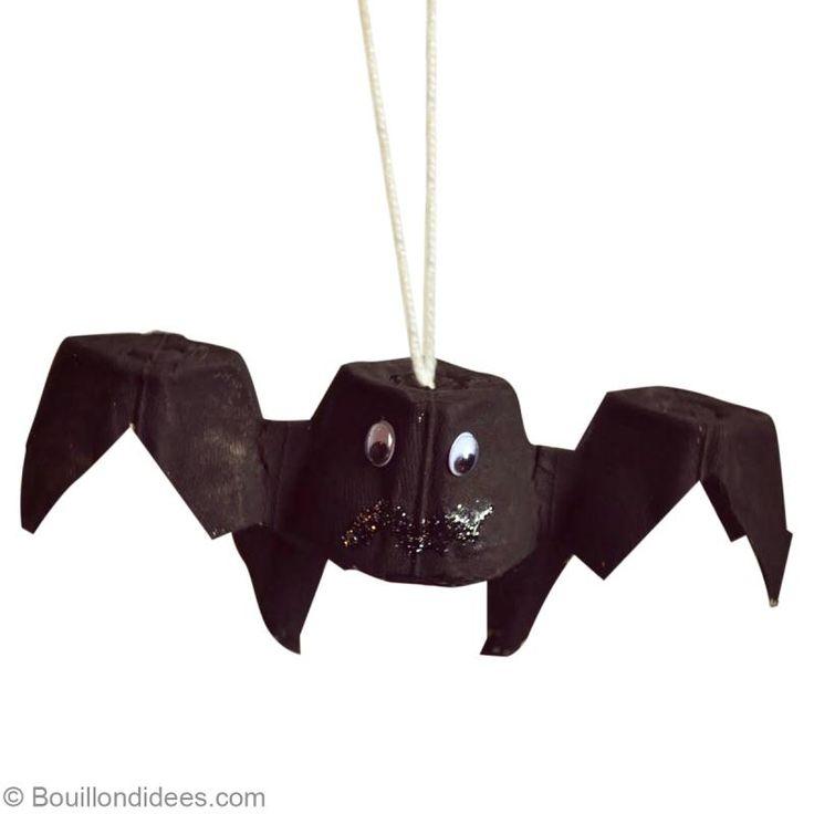 Bricolage Halloween facile : Chauve souris récup