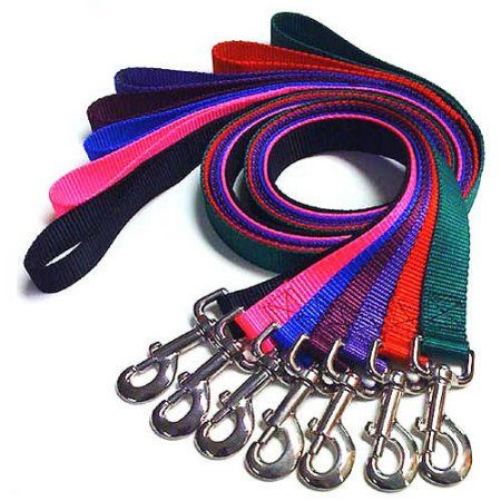 Majestic Pet 1'' x 4' Double Lead in Multiple Colors, Multicolor