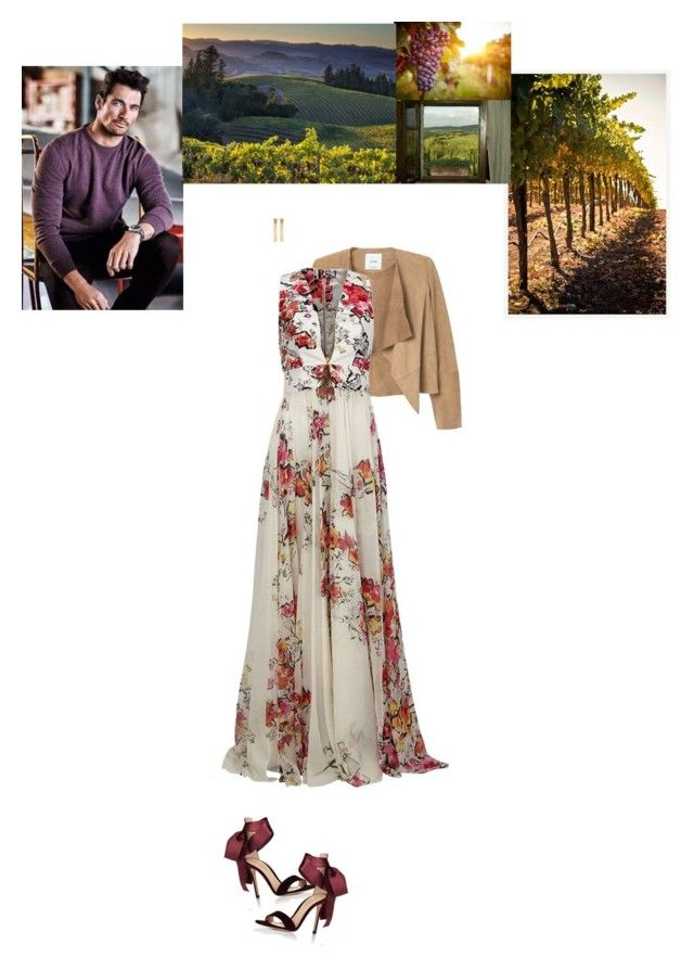 """Toscaanse Bruiloft"" by class-in-the-corner-office ❤ liked on Polyvore featuring Pottery Barn, MANGO, Zuhair Murad, Gianvito Rossi, Kenneth Jay Lane and Roberto Cavalli"