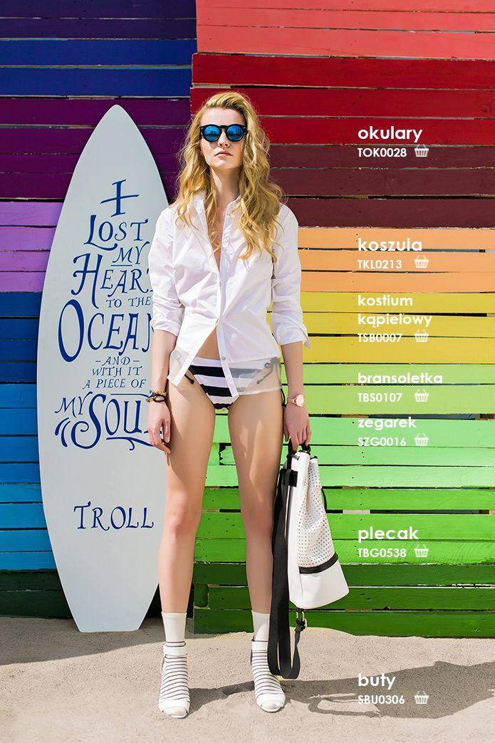 Biała #koszula damska #troll