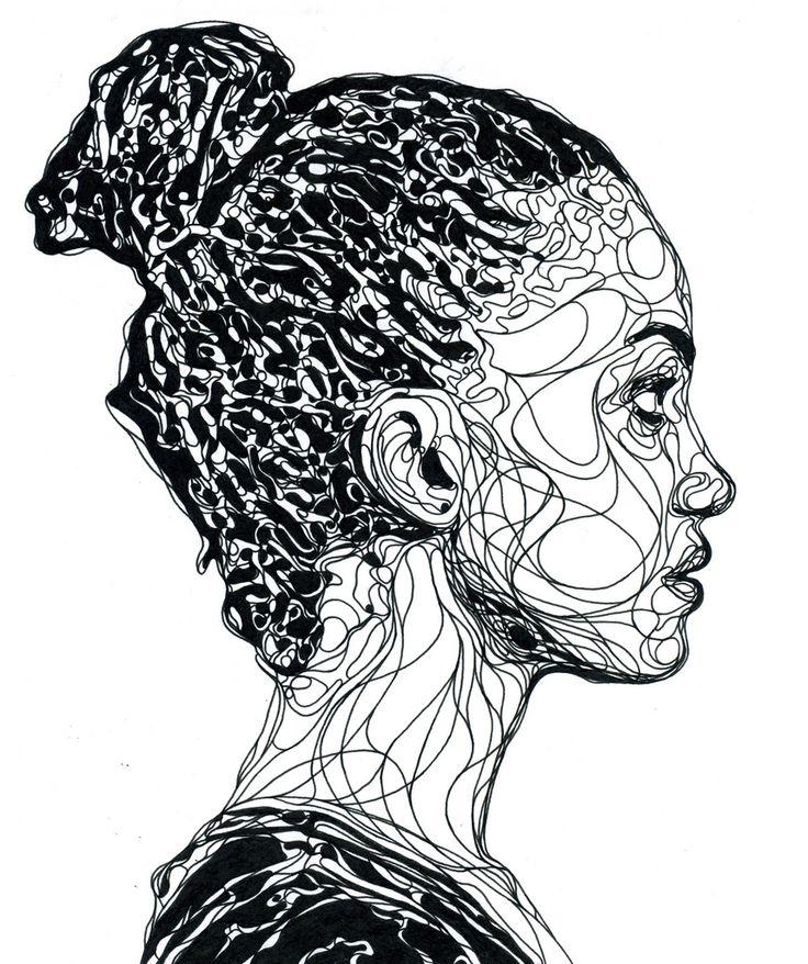 Contour Line Drawing Portrait : Best images about continuous line drawing on pinterest