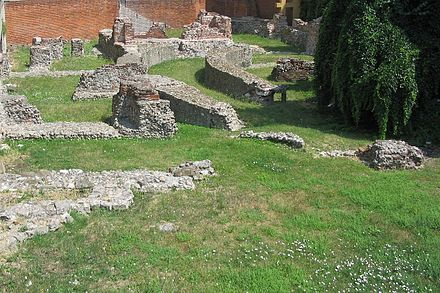Ruins of the Emperor's palace in Milan. Here Constantine I and Licinius issued the Edict of Milan.