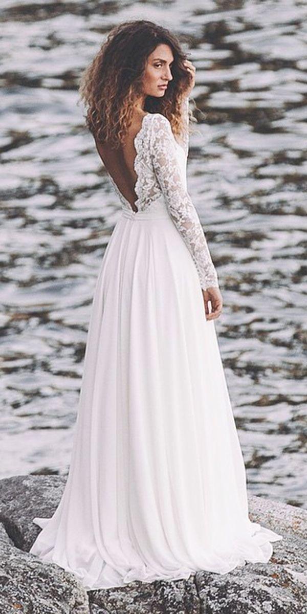 beach wedding romantic elegant wedding dresses