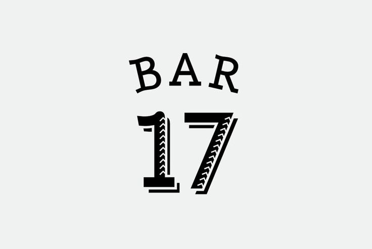 BAR17(2015) バーのロゴ、名刺