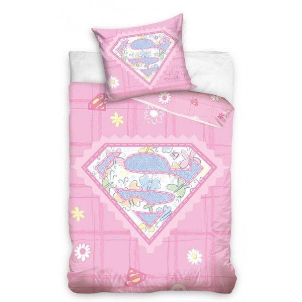 SuperBaby junior sengetøj i 100% bomuld og med logo fra Superman