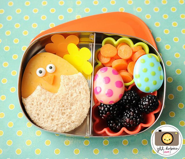 Bento Box School Lunch - perfect for easter or spring time! Make Every Day Special ♥