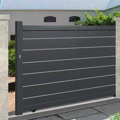 Aluminium sliding gate EMALU NIMES