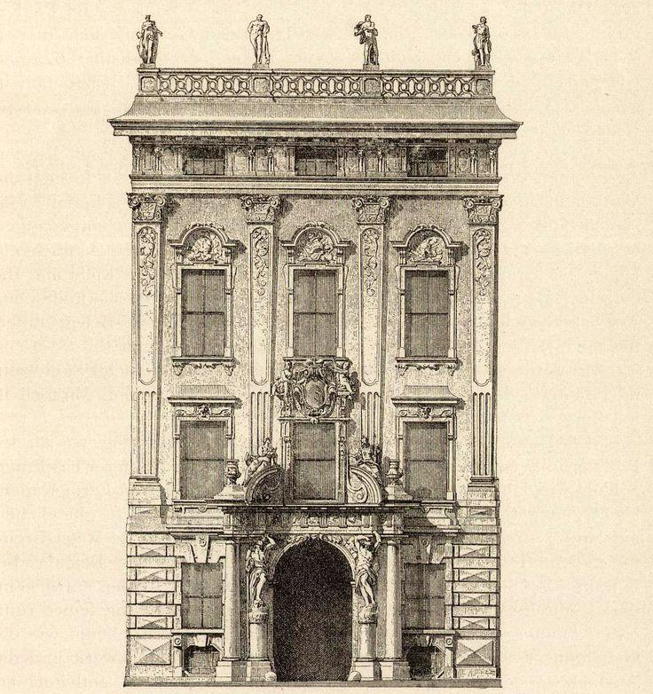 Elevation of the Palais Kinsky, Vienna