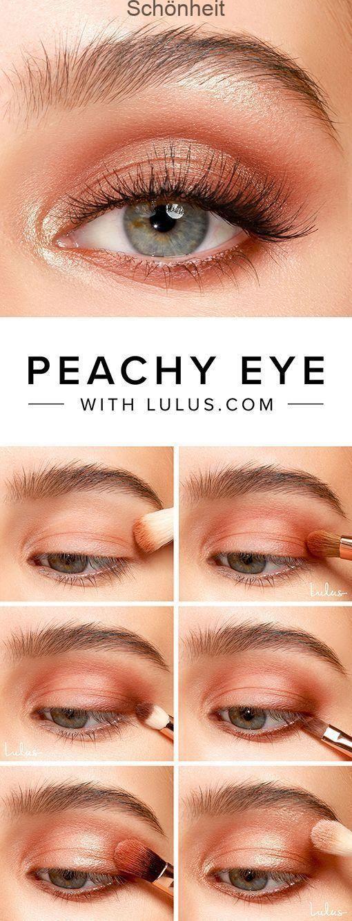 Ottieni un modo carino, ma semplice con il nostro tutorial Peachy Eyeshadow …