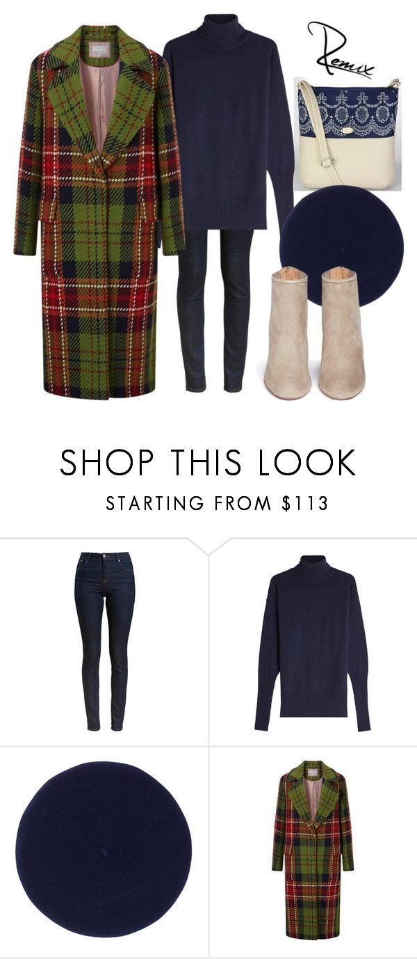 """""""Check"""" by aleva on Polyvore featuring Barbour, Victoria Beckham, Fivestory and Aquazzura"""