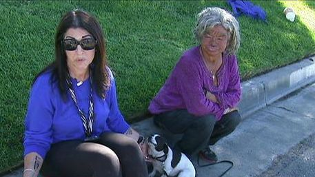 """Lori Rich hits the streets of Riverside every day looking for homeless people with pets. She runs a non-profit organization called """"Taking It To the Streets"""".  She says, """"To me, the animals have no voice. Even if the people choose to be out here the animals don't make that choice, the people make it for them and I feel it's important that if they're out here, somebody is watching out for them."""""""