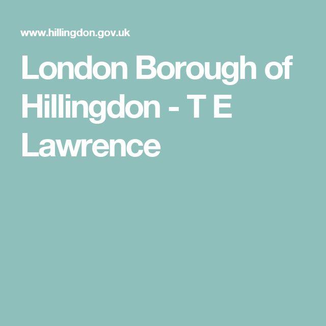 London Borough of Hillingdon - T E Lawrence