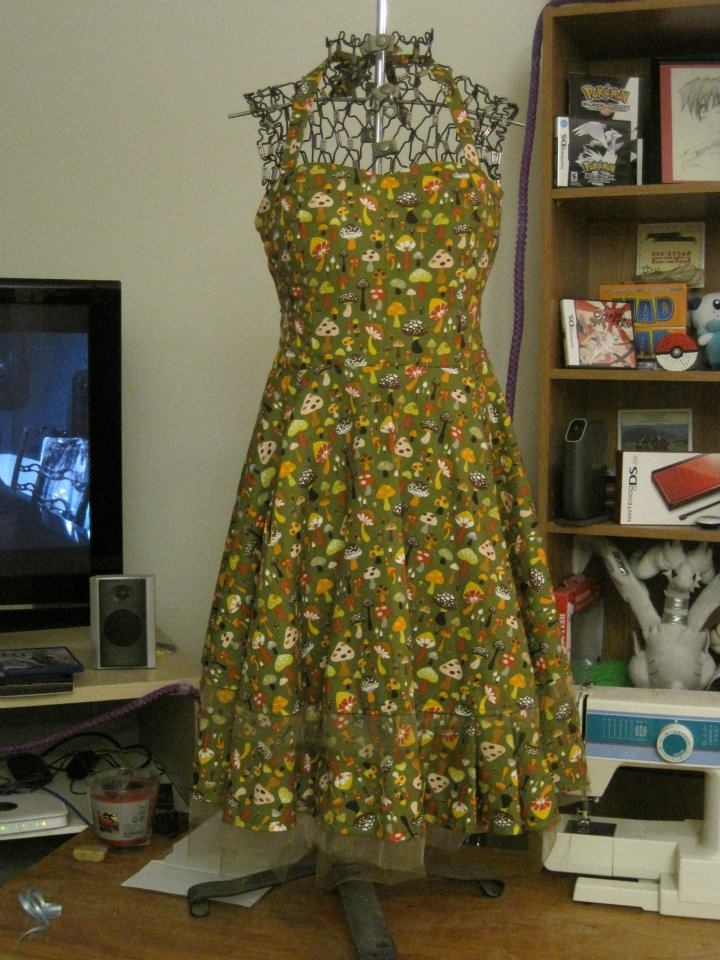 Mushroom dress....love this material!!!