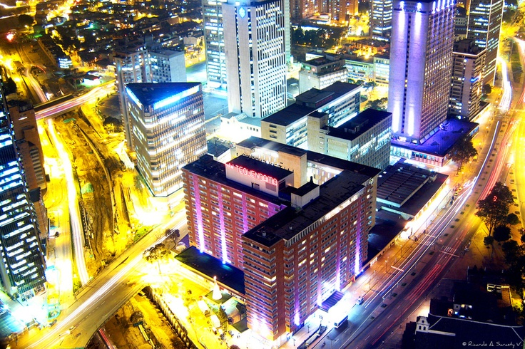 Vista del centro internacional Tequendama
