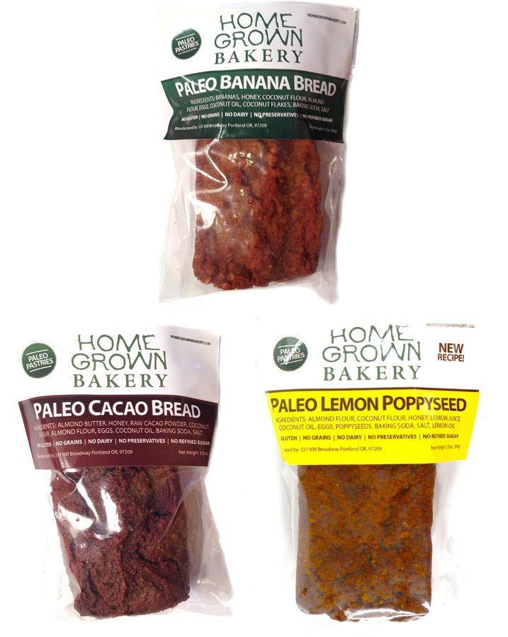 3.5 oz Banana, Cacao & Lemon Poppyseed by Home Grown Bakery - Wild Mountain Paleo Market Take 10% off your entire order!   Use Code: 10Disc8217   Good Thru Sunday 8/6/17